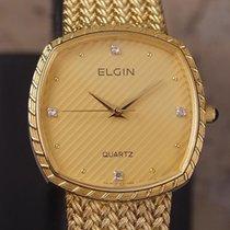 Elgin Swiss Made 1980s Mens Luxury 30mm Gold Plated Men's...