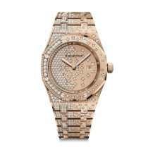 Audemars Piguet Royal Oak Quartz Full Diamonds Rose Gold 33mm