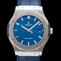 Hublot Classic Fusion Blue new Titanium