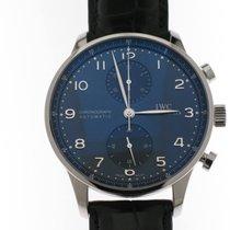 IWC Portuguese Chronograph Steel 40.9mm Blue Arabic numerals