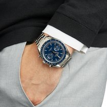 Omega Titanium Automatisch Blauw 44.2mm tweedehands Speedmaster Professional Moonwatch