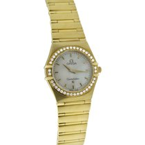 Omega Yellow gold Quartz Mother of pearl 23mm new Constellation Ladies