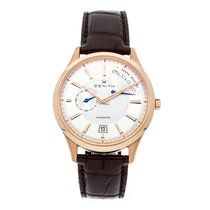 Zenith Rose gold Automatic Silver No numerals 40mm pre-owned Captain Power Reserve