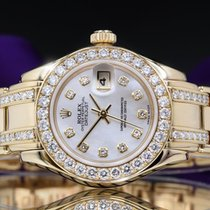 Rolex Lady-Datejust Pearlmaster Oro amarillo 29mm Madreperla Sin cifras