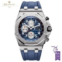 Audemars Piguet Steel Automatic Blue Arabic numerals 42mm pre-owned Royal Oak Offshore Chronograph