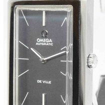 Omega De Ville pre-owned 50mm Grey Leather