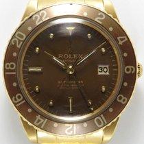 롤렉스 GMT-마스터 옐로우골드 40mm 갈색 숫자없음