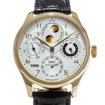 IWC Portuguese Perpetual Calendar Yellow gold 45mm Silver United States of America, Texas, Houston