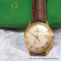 Omega Geneve Calendar 18k ORIG; Cross Hair Dial Orig; Rare Box