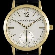 A. Lange & Söhne 18k Yellow Gold Silver Baton Dial Sax-O-Mat...