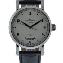 Chronoswiss Sirius Day Date Stainless Steel Silver Dial Dark...