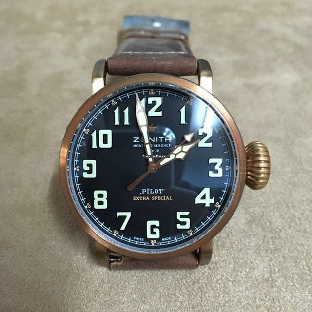 5f153f71348 Zenith PILOT Type 20 Extra Special Bronze Black   Brown 45mm for ...
