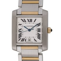 Cartier : Tank Francaise :  W51005Q4 :  18k Gold & Stainless...