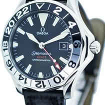Omega stainless steel GMT