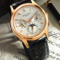百達翡麗 A Fine pink Gold Automatic Perpetual Calendar Wristwatch...