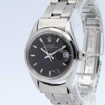 Rolex Oyster Perpetual Lady Date Acier 26mm Noir Sans chiffres