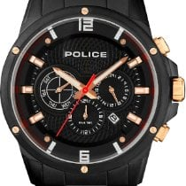 Police 47mm Quartz new Black
