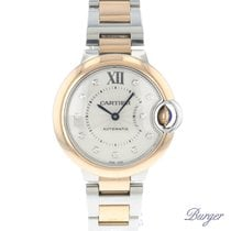 Cartier Ballon Bleu 33 MM Steel/Gold Diamonds