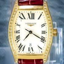 Longines Evidenza Yellow gold 32mm White Roman numerals