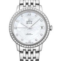 Omega White gold Automatic Mother of pearl new De Ville Prestige