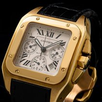Cartier Yellow gold Automatic Roman numerals 38mmmm pre-owned Santos 100