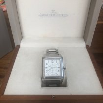 Jaeger-LeCoultre Steel Automatic White Arabic numerals 50mm pre-owned Reverso Squadra Hometime