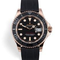 Rolex Yacht-Master 40 Pозовое золото 40mm Чёрный