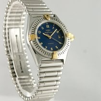 Breitling Callistino Gold/Steel 27mm Blue Arabic numerals