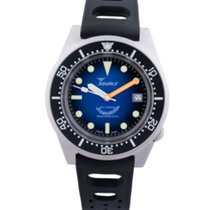 Squale Squale 1521 Blasted Blue Soleil Automatico Swiss Made sub 50 2019 new