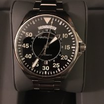 Hamilton Khaki Pilot Day Date pre-owned 42mm Black Date Weekday Steel