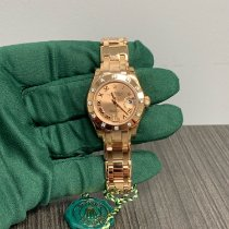 Rolex Lady-Datejust Pearlmaster Roségoud 29mm Champagne Romeins
