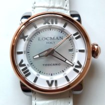 Locman Toscano pre-owned 41mm Mother of pearl Date Leather