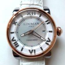 Locman Toscano Steel 41mm Mother of pearl Roman numerals