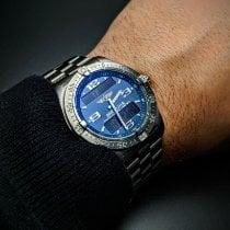 Breitling Aerospace Avantage Титан 42mm Синий Aрабские