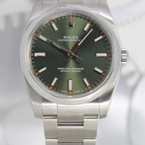 Rolex Oyster Perpetual 34 Acier 34mm Vert Arabes France, Cannes