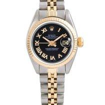 Rolex Lady-Datejust Gold/Steel 26mm Black Roman numerals