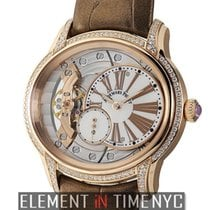 Audemars Piguet Rose gold Manual winding Mother of pearl Roman numerals 40mm new Millenary Ladies