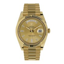 Rolex Day-Date 40 pre-owned 40mm Gold Date Weekday Yellow gold