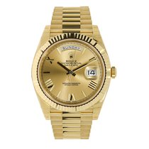 Rolex Day-Date 40 Yellow gold 40mm Champagne Roman numerals