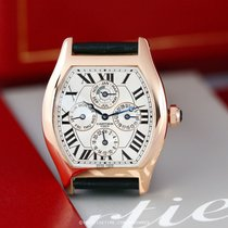 Cartier Tortue Oro rosado 38mm Plata