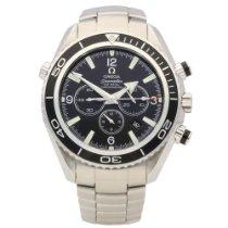 Omega Seamaster Planet Ocean Chronograph Steel 45mm Black Arabic numerals