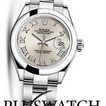 Rolex Lady-Datejust Acero 28mm Plata Romanos
