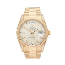Rolex Day-Date 18k Yellow Gold Gents 118338 - COM1196