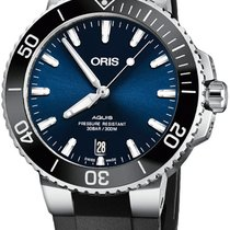Oris Aquis Date Steel 39.5mm Blue United States of America, New York, Airmont