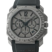 Bulgari Octo new Automatic Chronograph Watch with original box and original papers 102859 / BGO 41 T CH