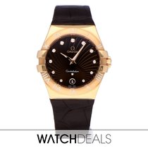 Omega Rose gold Quartz Brown No numerals 35mm new Constellation Quartz