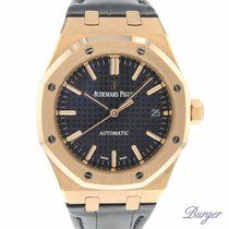 Audemars Piguet 15450OR.OO.D002CR.01 Roségold 2012 Royal Oak Selfwinding 37mm gebraucht