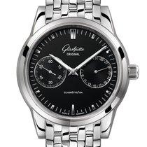 Glashütte Original Senator Zeigerdatum neu Automatik Uhr mit Original-Box und Original-Papieren 1-39-58-01-02-14