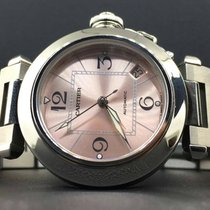Cartier Pasha C pre-owned 35mm Pink Date Steel