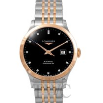 Longines Record Steel Black
